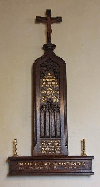 All Saints, Welborne - War Memorial WWI