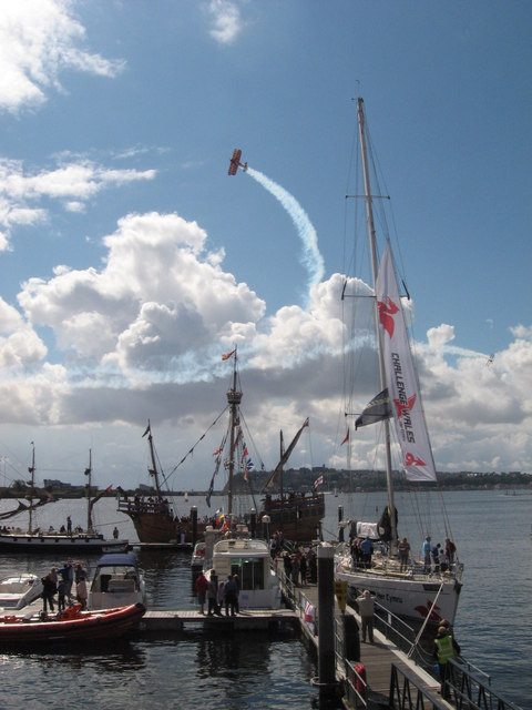 Wingwalking over Cardiff Bay