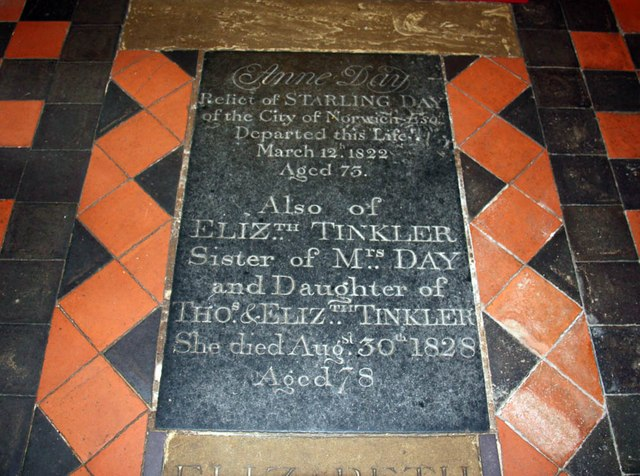 All Saints, Welborne - Ledger slab