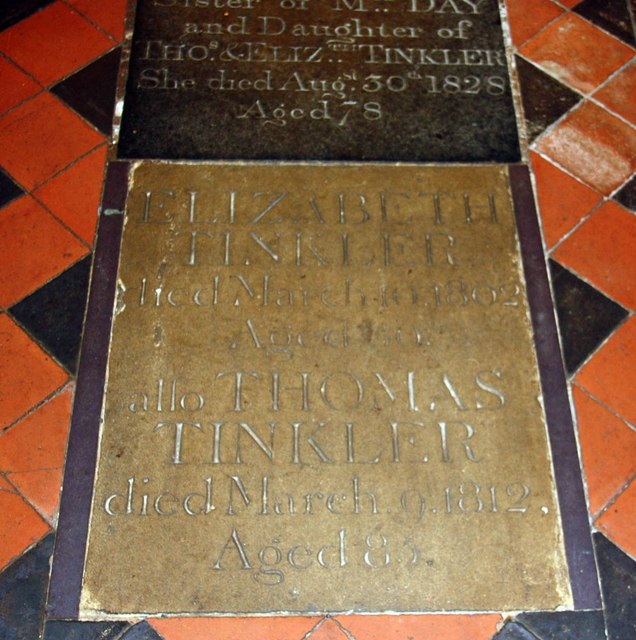 All Saints, Welborne - Ledger slab