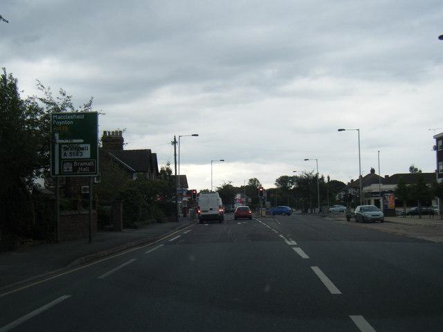 Macclesfield Road approaching Dean Lane junction