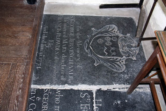 St Edmund, Costessey - Ledger slab