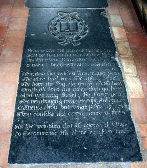 St Edmund, Costessey - Ledger slab