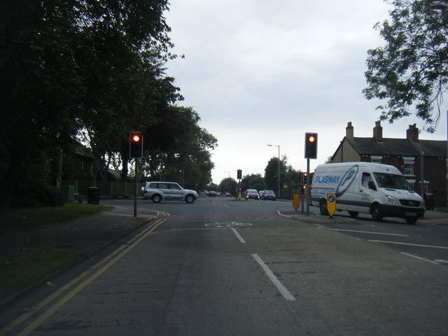 Dean Lane/Chester Road junction