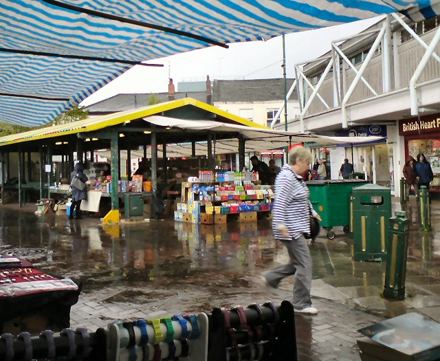 Heavy rain on Hyde Market
