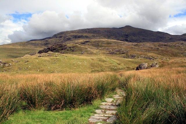 The Rhyd-Ddu path at Pen ar Lon