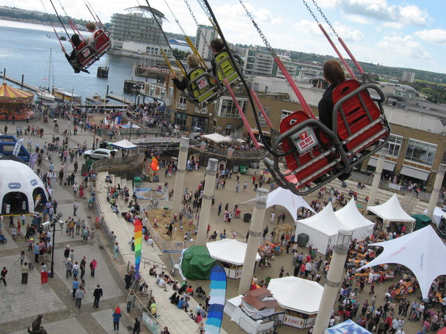 Looking down on Cardiff Harbour Festival