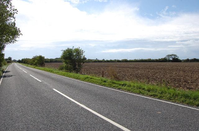 Ashford Road towards New Romney, near Ivychurch
