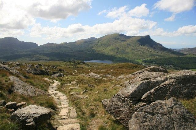 The Rhyd-Ddu path, Snowdonia