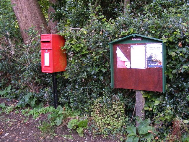Little Bealings Village Notice Board & Bealings Holt Postbox