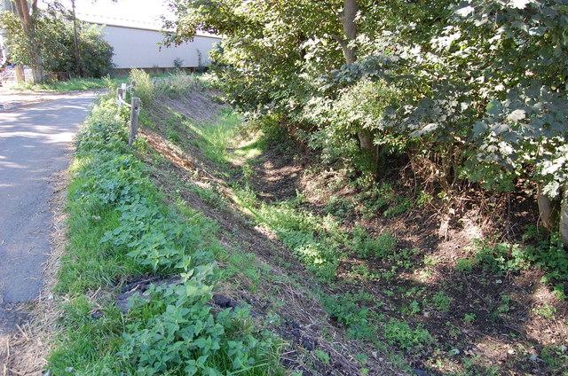 Deep Drainage Ditch near Honeychild Manor Farm