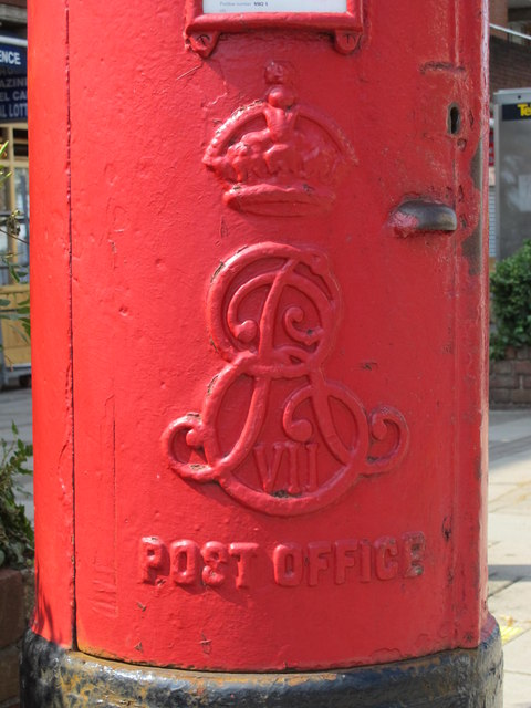 Edward VII postbox, Cricklewood Lane, NW2 - royal cipher