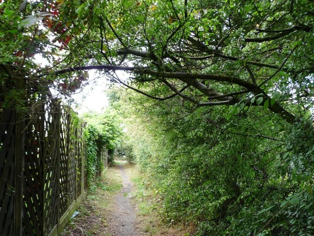 Footpath at the edge of Clayton West
