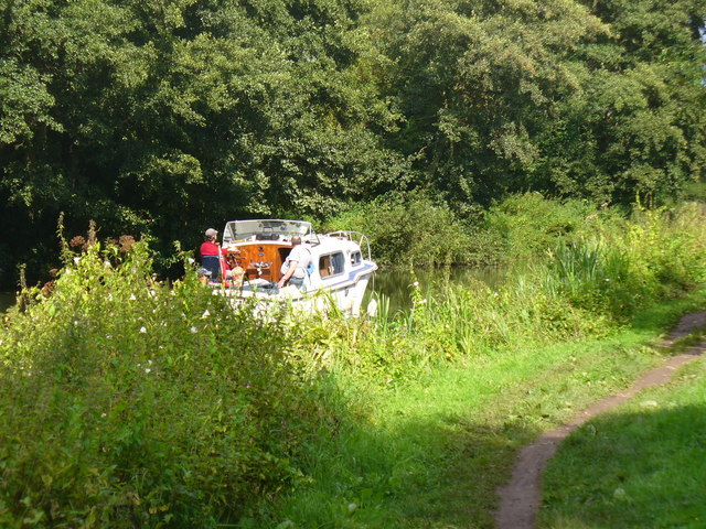 Boat on the River Wey Navigation