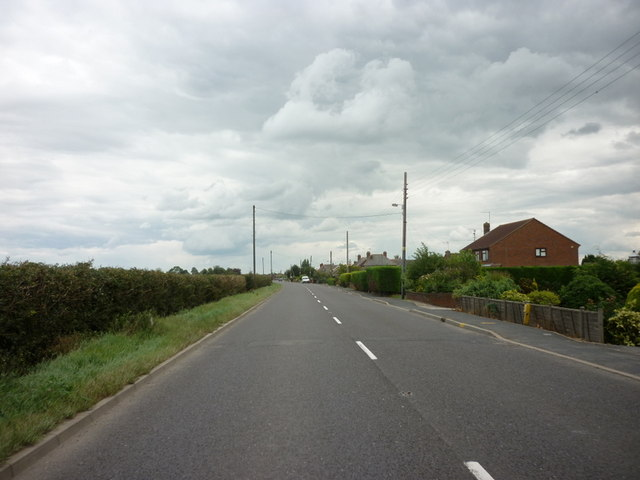 Bourne Road towards Spalding