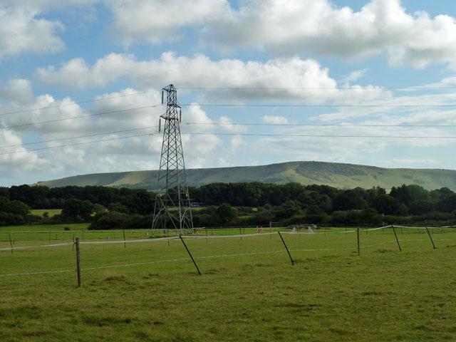Pylon on Underwood Farm