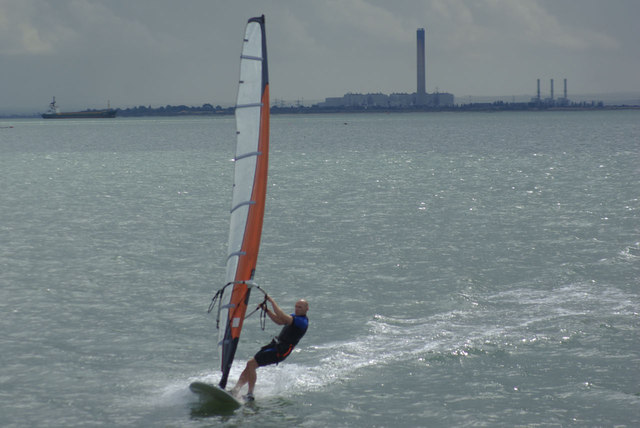Windsurfing at Chalkwell
