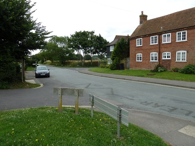 Looking from School Lane into Bosham Lane