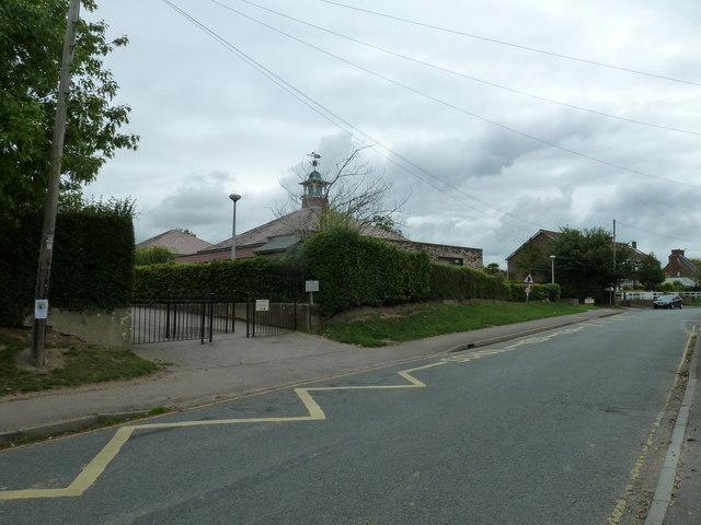 Bosham Primary School as seen from Bosham Lane