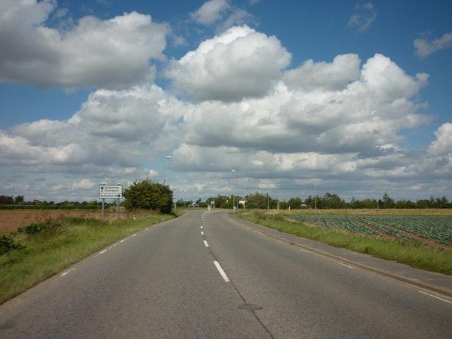 Looking north along Gosberton Road