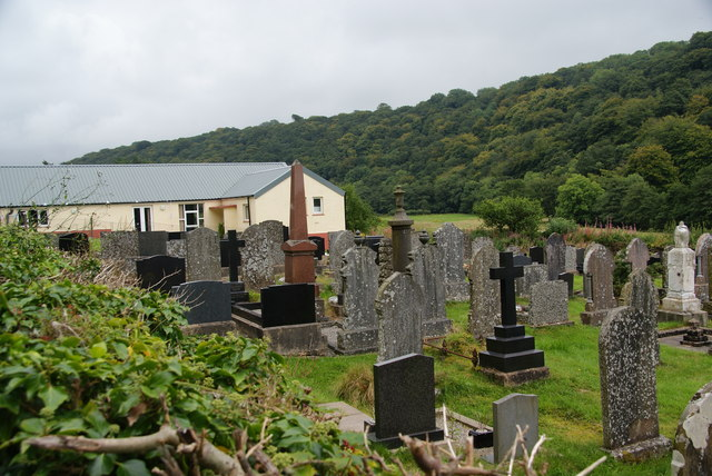 A graveyard in the Gwaun Valley