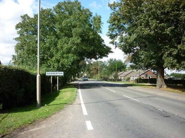 Entering Gosberton, on Spalding Road
