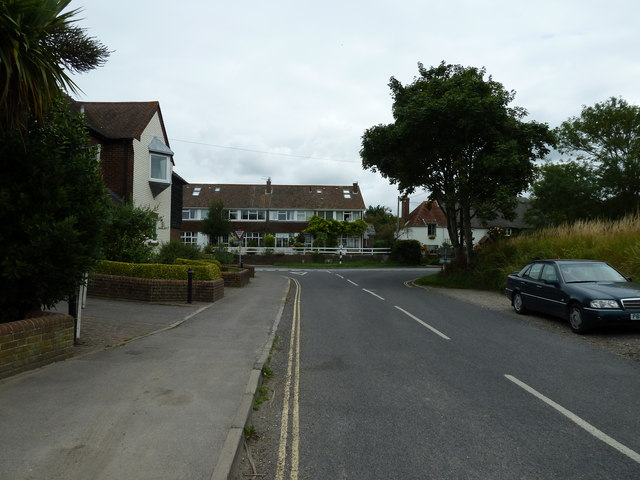 Looking from Taylors Lane towards Bosham Lane