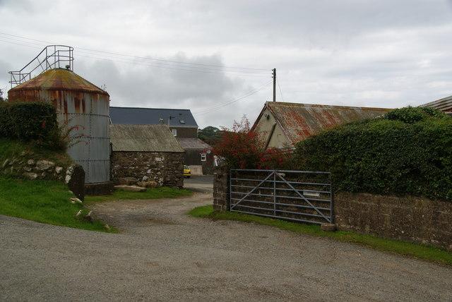 Farmyard at Caer-wen