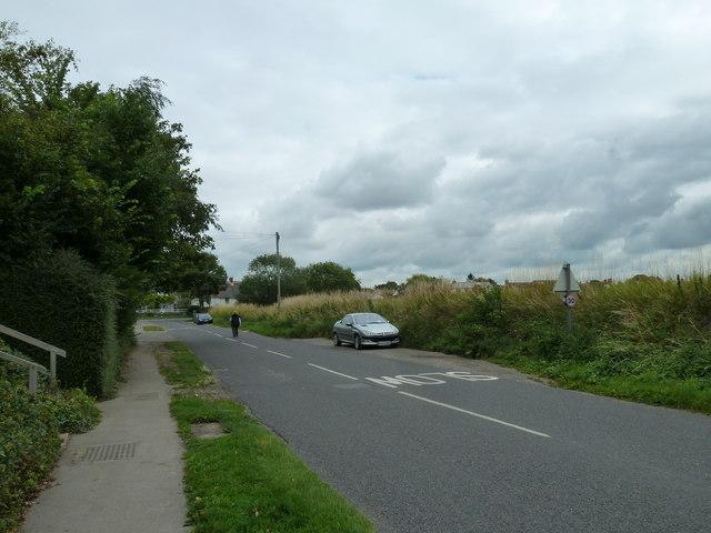 Lone pedestrian in Taylors Lane