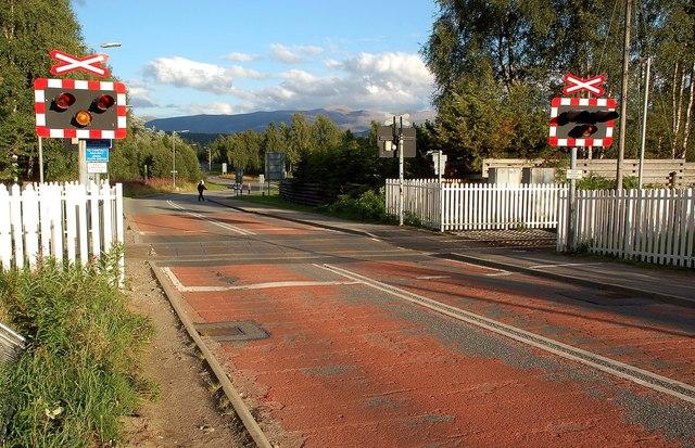 Crossing The Strathspey Railway Line