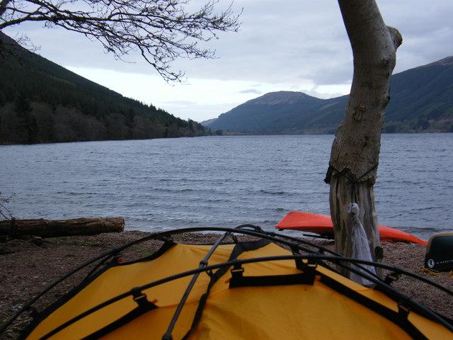 Wild Campsite on Loch Lochy