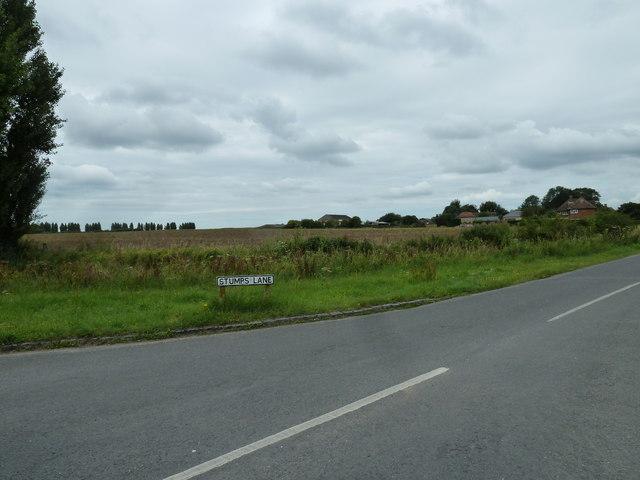 Farmland just off Stumps Lane