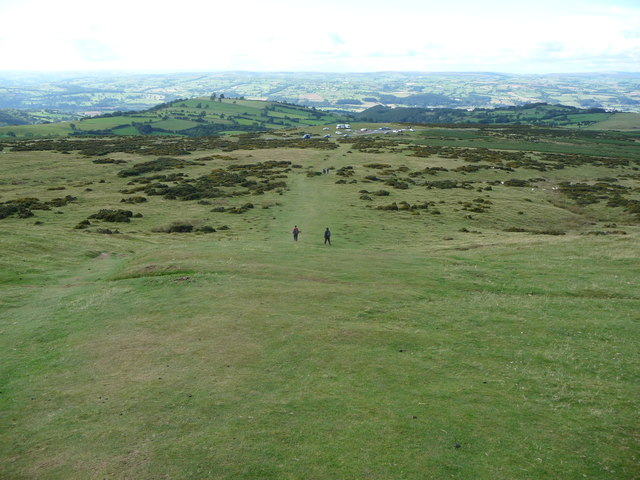 View down the path below Hay Bluff