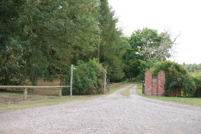 Public Bridleway and Entrance to Kinver Edge Farm