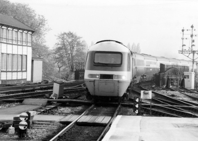 High Speed train at Exeter, 1984