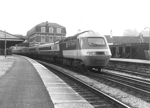 High Speed Train at Newton Abbot ,1982