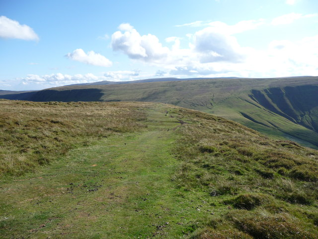 Path on the northern escarpment of the Black Mountains