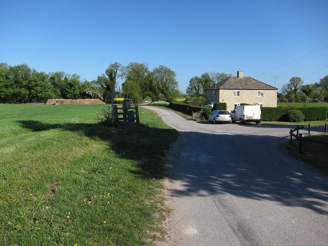 End of Landwade Road