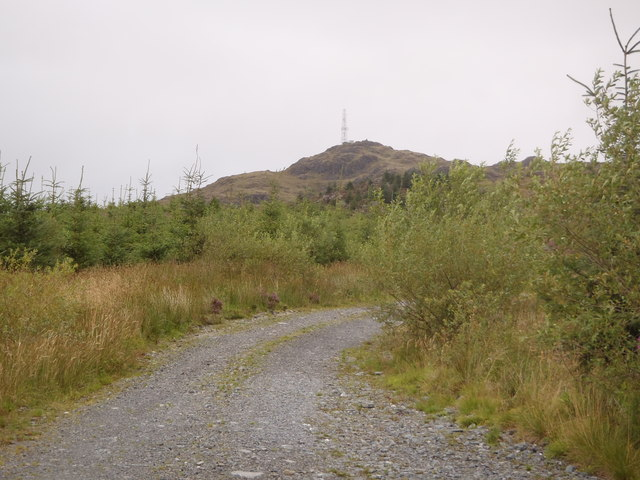 Track leading to Bennan Hill