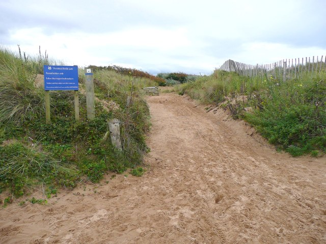Start of permitted bridle path, Formby
