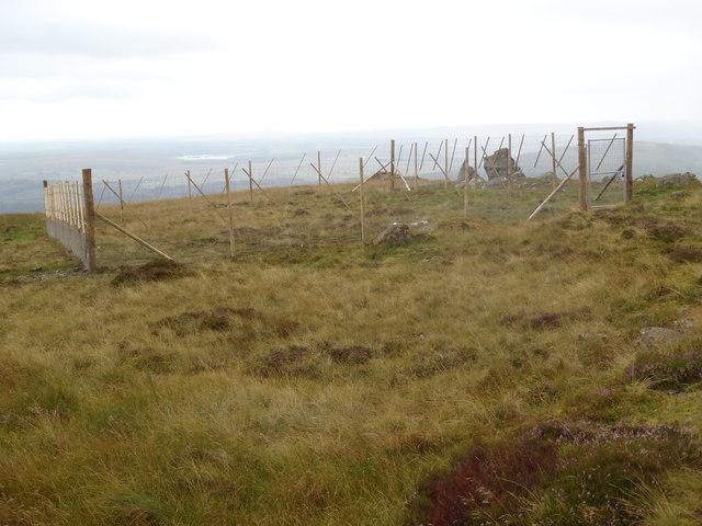 Protected area below Bennan Hill