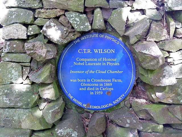 Memorial plaque to C.T.R.Wilson, physicist