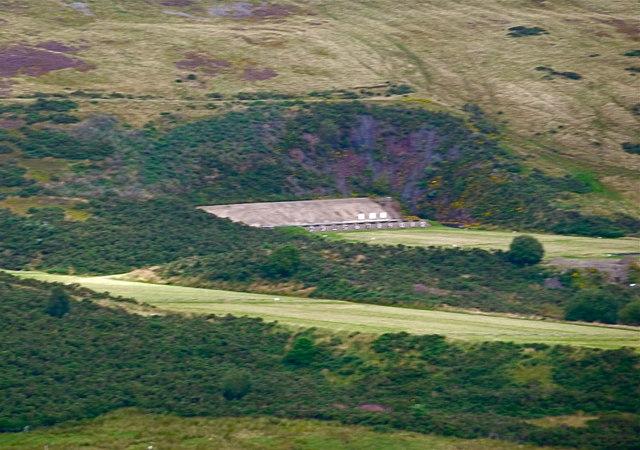 M.O.D. firing range on Castlelaw Hill, Pentlands