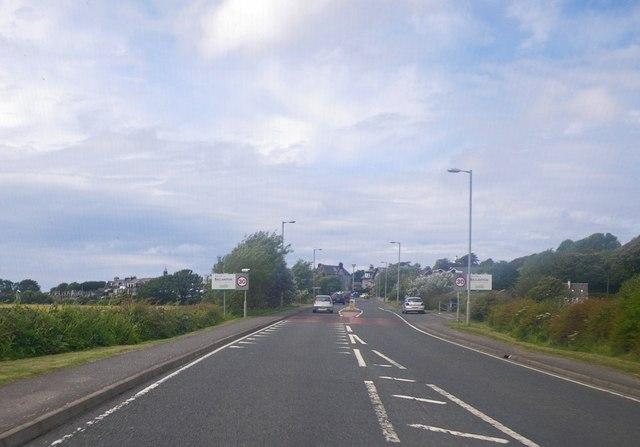 Entering Ballantrae urban limits