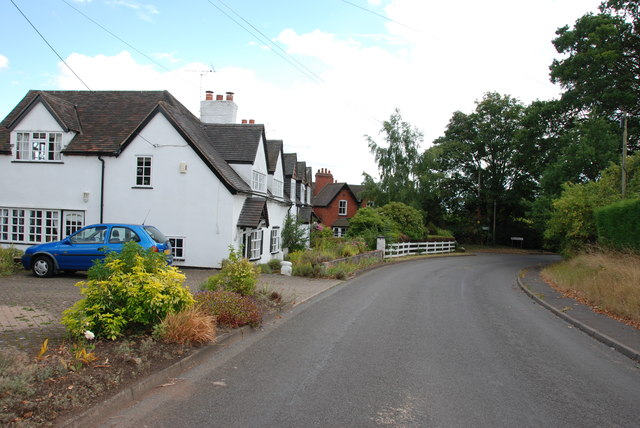 Houses on the edge of Wolverley