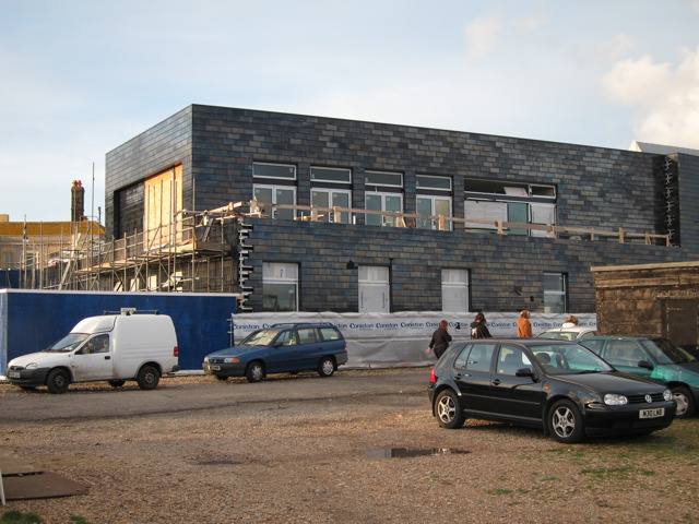 Jerwood Gallery construction
