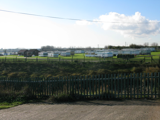 Caravan park at Reculver