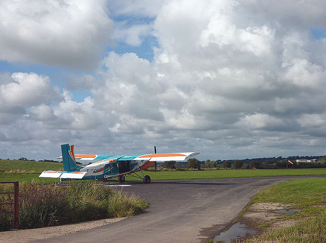 Parachutists' plane at Cockerham Airfield