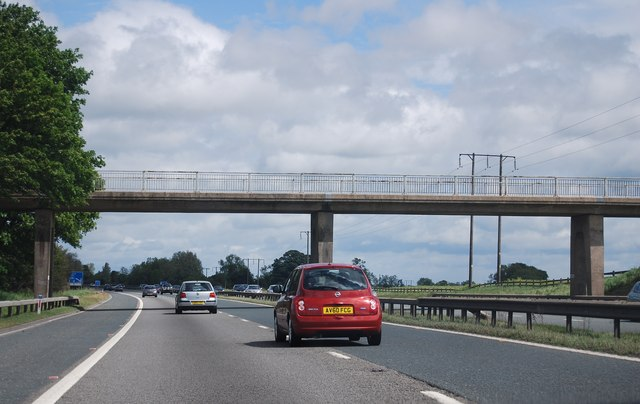 Bridge over the A1(M) north of Barton