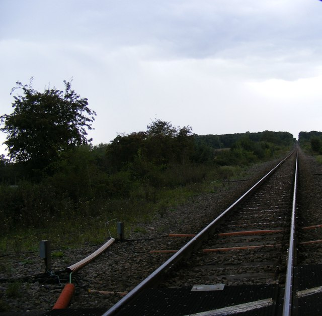 Along the railway line towards Cromwell Road Crossing